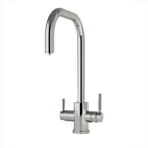 CLEARANCE - 1914 Perrin & Rowe Phoenix 3-in-1 Instant Hot Water Kitchen Mixer Tap, U-Spout - Chrome